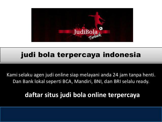 judi online terpercaya dan terbaik di Indonesia